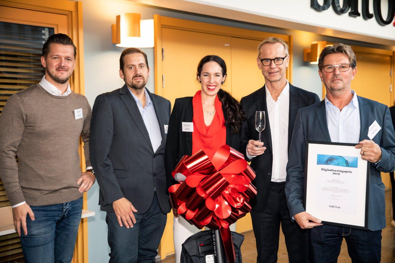 Vinnarna av SoftOnes Digitaliseringspris i kategorin Årets Digitala Vinnare