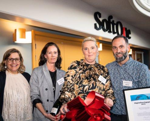 Vinnarna av SoftOnes Digitaliseringspris i kategorin Årets Digitala Resa
